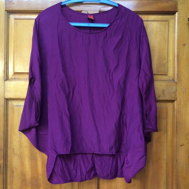 Purple Flowy Top