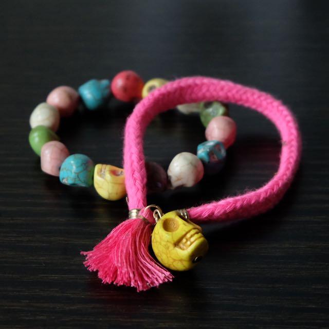 Set of Skull Bracelet