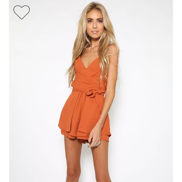 Size 8 PEPPERMAYO Burnt orange playsuit