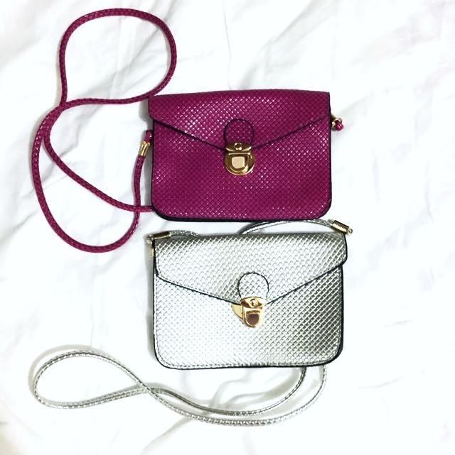 Small Metallic Crossbody Bag Purse Clutch