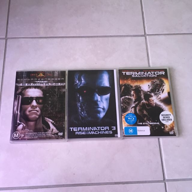 The Terminator DVDs All For $8