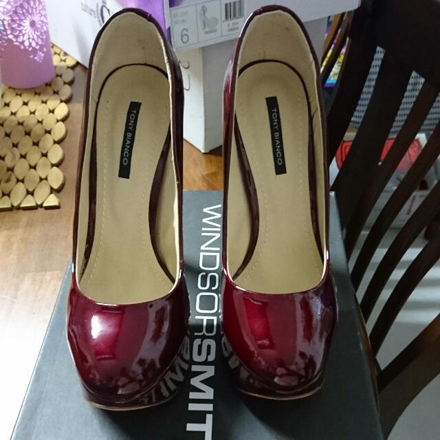 Tony bianco Cherry Red Heels Size 6