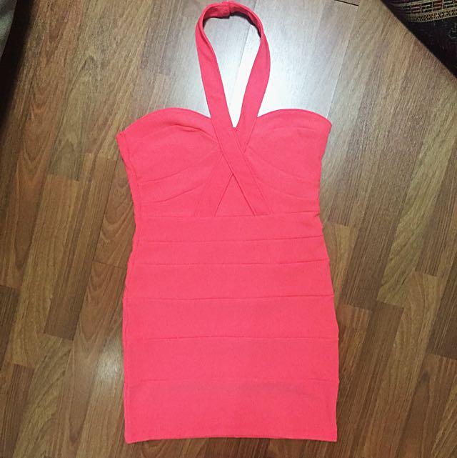 Topshop Neon Bodycon Dress