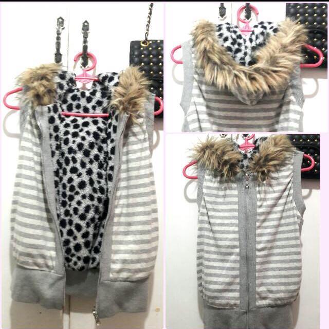 Winter Reversible Fur Hoodie
