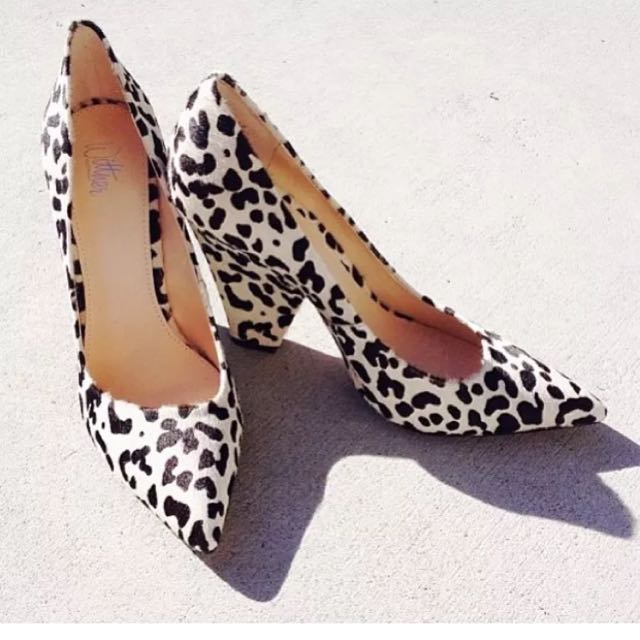 201db5a173 Wittner Topper Heels Leopard Print Size 36, Women's Fashion, Shoes ...
