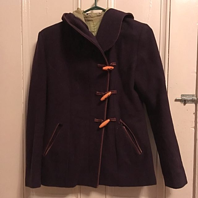 Wool Pea Coat Sz Sm