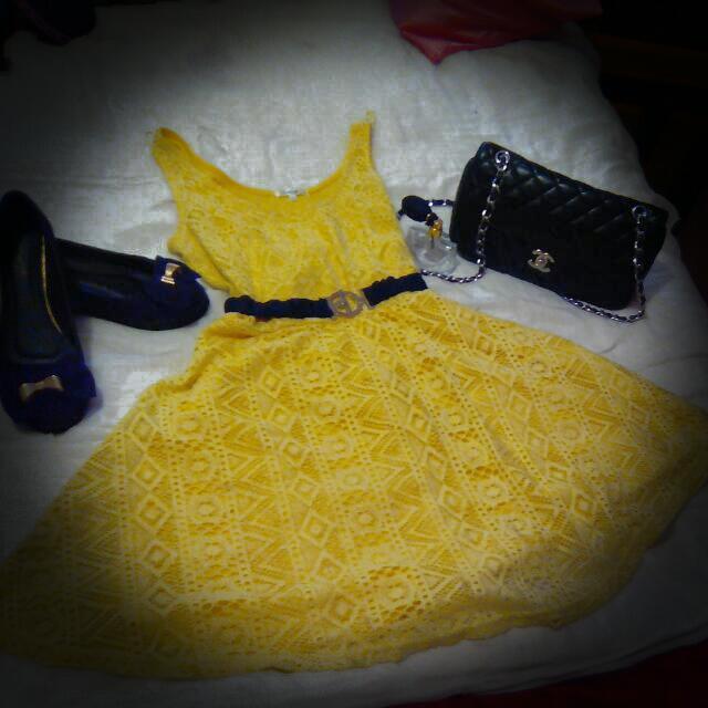 Yellow Dotti Dress