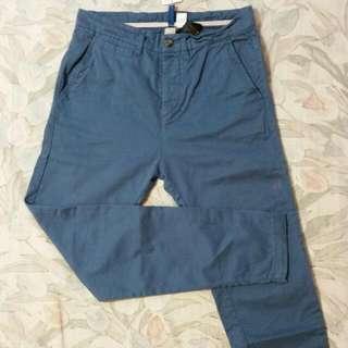 🚚 H&M 藍色休閒褲-W28