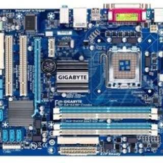 775 內顯主板 技嘉 GA-G41M-Combo 支援D2.D3記憶體1600/4G雙面可用