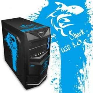 炎龍王 USB3.0 紅色圖騰 二代(ATX) 顯卡長28/2大4小/全黑化/U2+U3