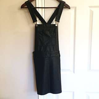 Leather ON HOLD Overall Styled Dress/tunic