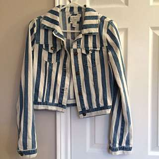 Forever 21 Stripped Denim Jacket