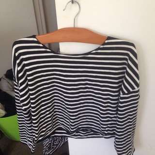 Stripe Long Sleeve Summer Top