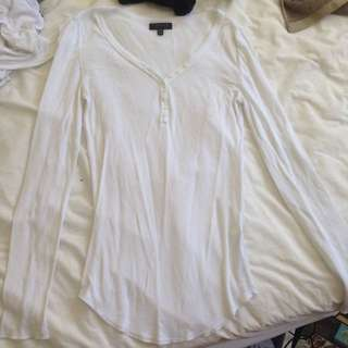 Top Shop White L/S Top