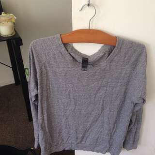 AS COLOUR grey L/S Slouch Top