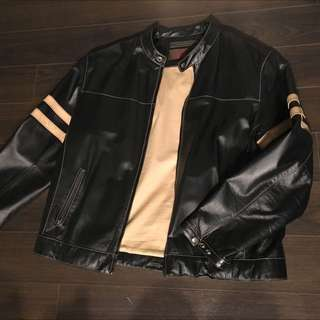 Men's Danier Black Leather Jacket xL