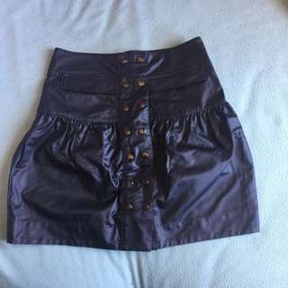 High waisted Leather Federation Skirt