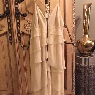 Wilfred (Aritzia) 100% Silk Cream Dress