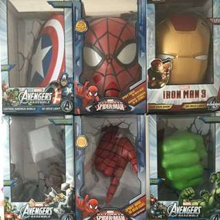 Marvel 3D Wall Decor With LIGHTS