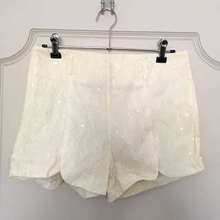 Lacey Off White Shorts