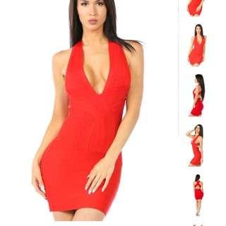 LVST-Bombshell Bandage Mini Dress Small