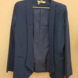 西裝藍色外套