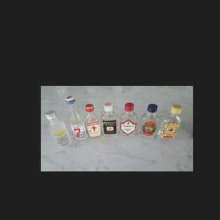 Collectors Item- Miniatures Of Vodka and gin