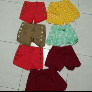7pcs Kiddy Shorts