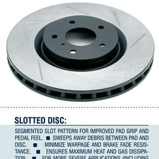 Rotora Rear Slotted Rotors For Mk5 GTI