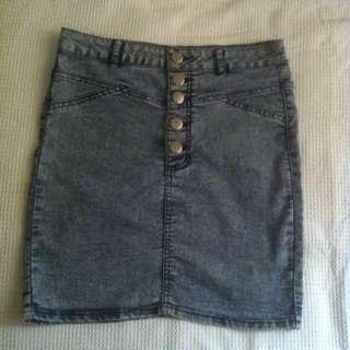 Cotton On Denim Skirt Size 10