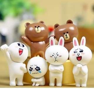 Line Messenger Figurine / Cake Topper (6 Pcs A Set)