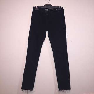 LEE Denim Black Jeans Ripped look