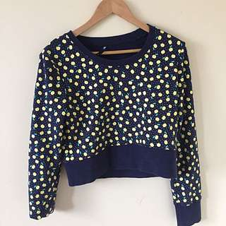 Quirky Patterned Dangerfield Crop