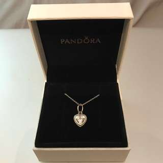 Pandora Sparkling Love Necklace