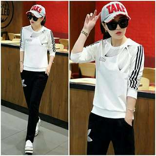 BT3247 White Neon Adidas Set 2in1