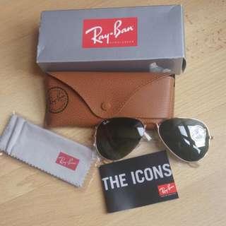 Authentic BNIB Ray Ban Aviator Sunglasses