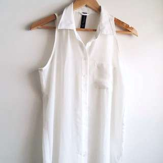 Sheer Sleeveless Shirt