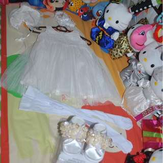 Baptismal Tutu Dress Set