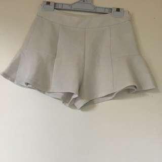Women's Flared White Shorts