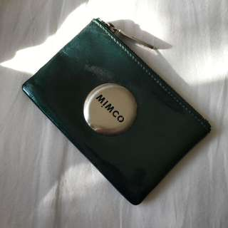 Mimco Small Pouch In Emerald Green