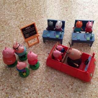 Peppa Pig Classroom Set , Car , Stamp