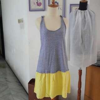 Dress Zara / Mango Kuning Abu