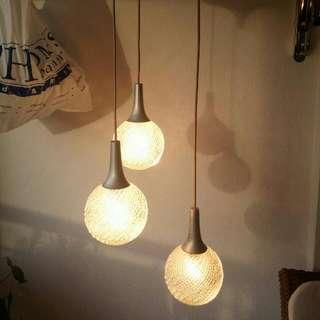 Vintage Glass Lamp Lampu