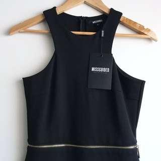 Missguided Zip Waist Dress