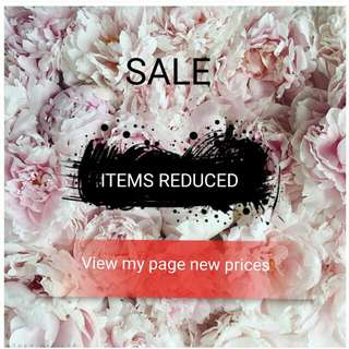 Prices On Items Reduced