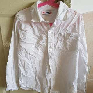 (Reserved) Give Away: Fox Kids Plain White Shirt Size 8