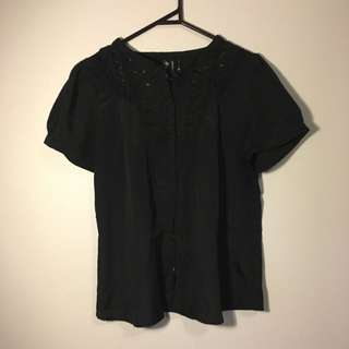 Jeanswest Top With Lace Detail - Size S