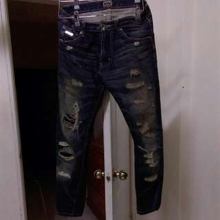 破壞牛仔褲 有厚度
