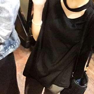 黑色短袖上衣