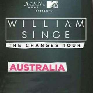 2x William Singe Sydney Changes Tour Tickets